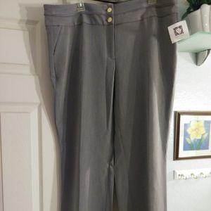 Anne Klein gray dress career pants size 16